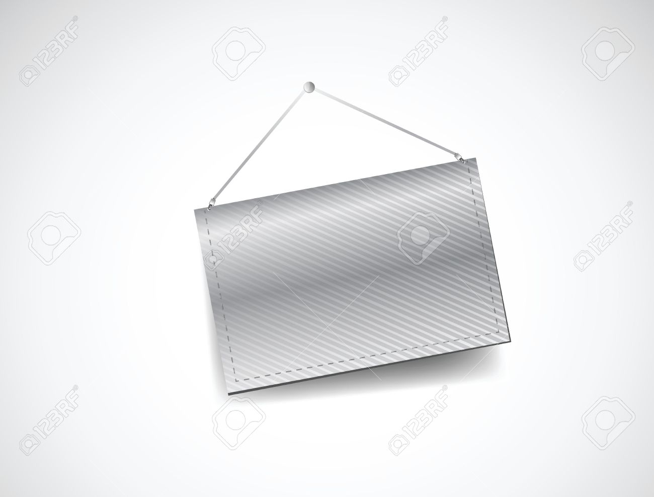 Wall Hanging Blank Template Banner Illustration Design Over White.