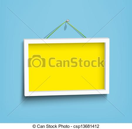 Vector Clip Art Of White Frame On The Wall