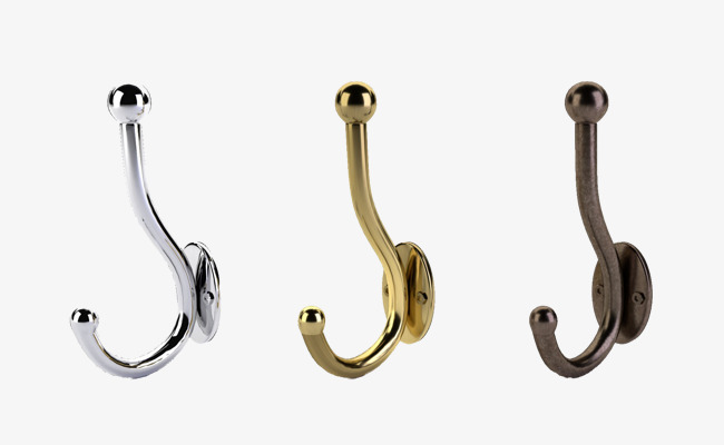Download Free png Three Wall Hooks, Wall Hook, Gray PNG Image and.