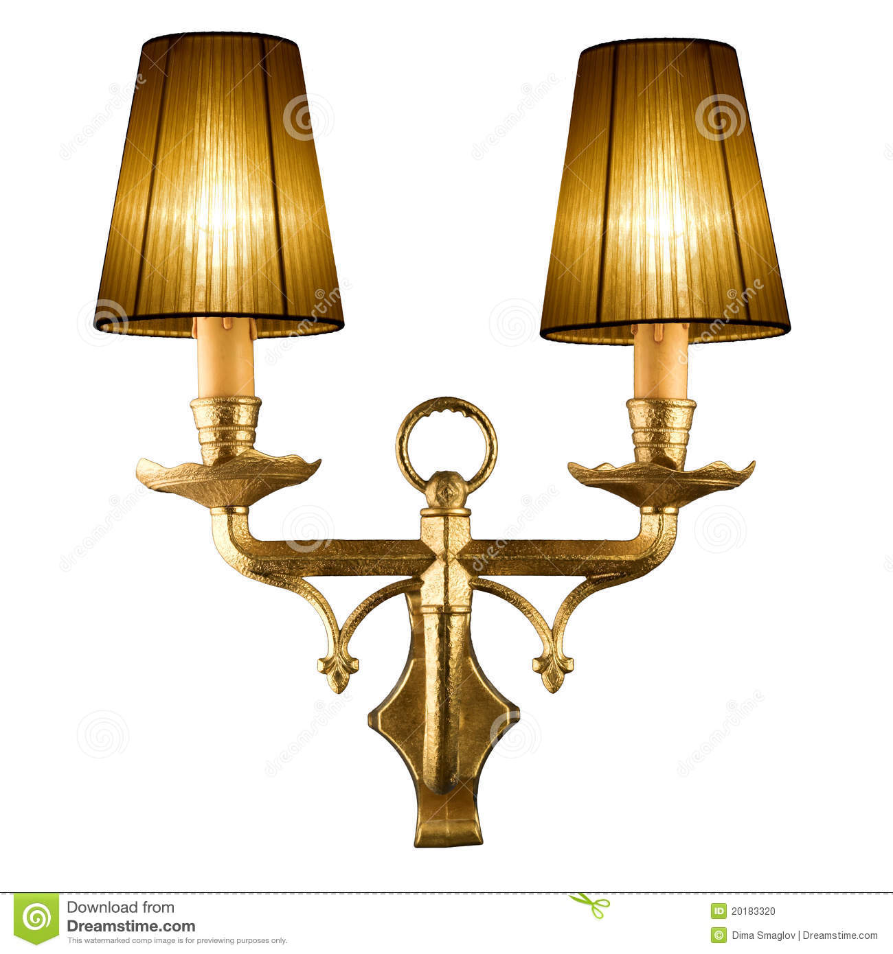 Vintage Wall Lamp Stock Photos.