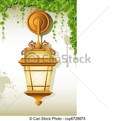 EPS Vector of Hanging Lamp.