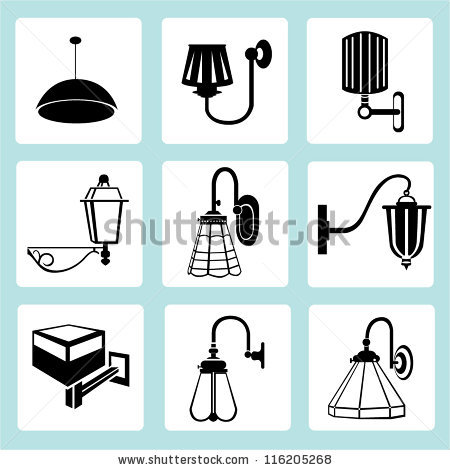 Modern Wall Lamp Stock Vectors, Images & Vector Art.