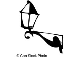 Clipart Vector of Wall street lamps.