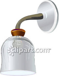 Wall lamps clipart #19