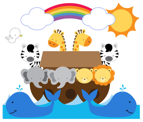 Rainbow Childrens Animal Clipart Clipground