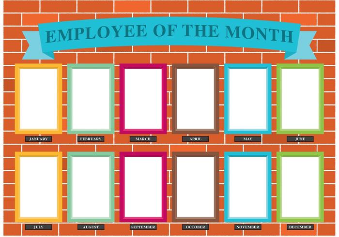 Employee Of The Month Wall Vector.