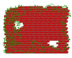 Wall with plants Clipart and Stock Illustrations. 5,828 Wall with.