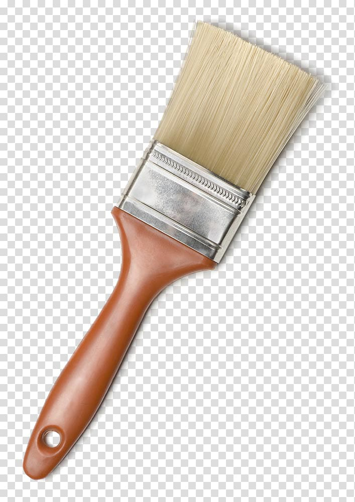 Brown paint brush, Paintbrush Paintbrush Wall, Brown paint.