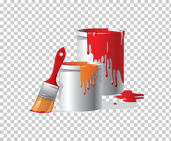Paint Bucket Brush , Wall painting PNG clipart.