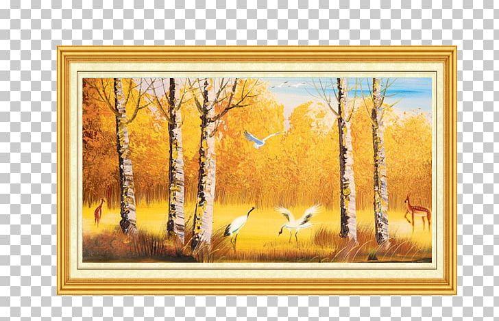 Mural Wall Painting Oil Paint PNG, Clipart, European, Flower, Golden.