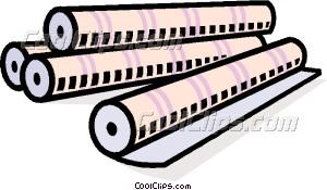 paper rolls Vector Clip art.