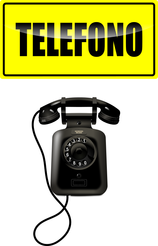 Free Clipart: Wall Telephone.