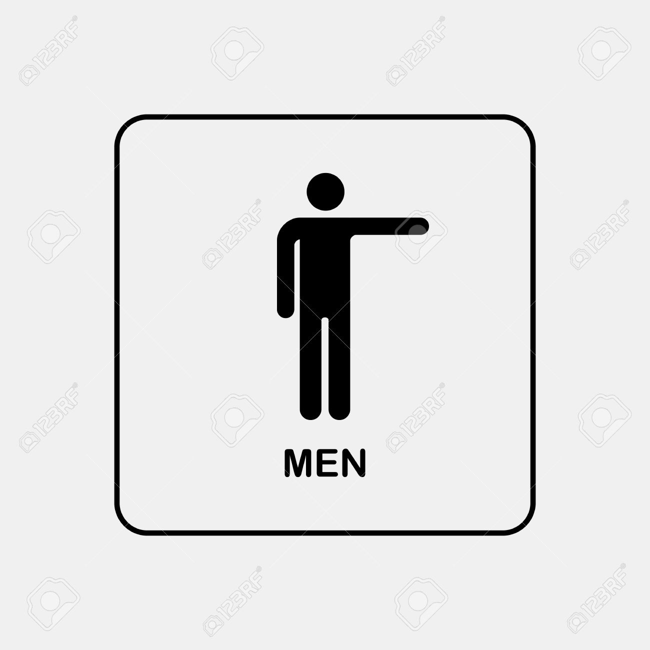 Toilet Door / Wall Plate. Original WC Icon. Sign. Royalty Free.