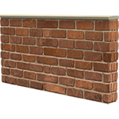 Small Brick Wall transparent PNG.