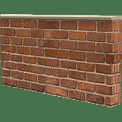 Small Brick Wall transparent PNG.