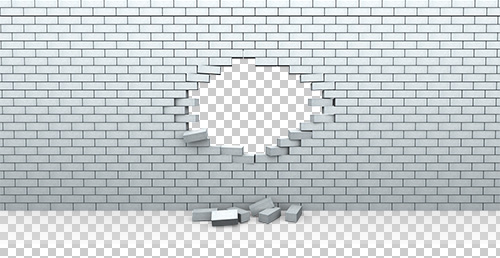 Hole in Brick Wall PNG.