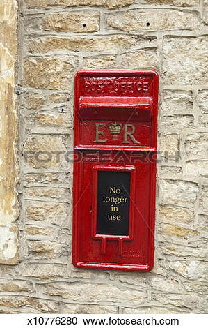Stock Photography of A disused post box, Castle Combe, Wiltshire.