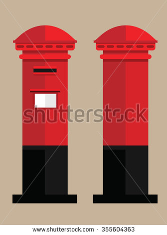 British Post Box Clipart.