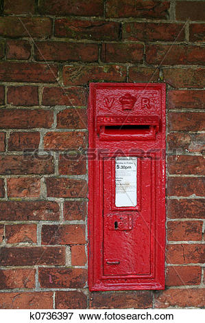 Picture of victorian wall postbox k0736397.