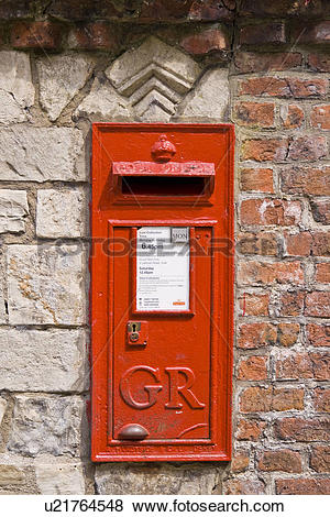 Pictures of England, North Yorkshire, York, A traditional red post.