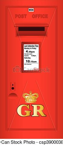 Vector of Typical UK Post Box.