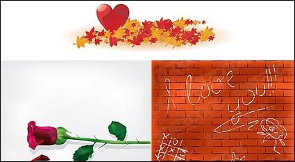 Maple Leaf rose heart.