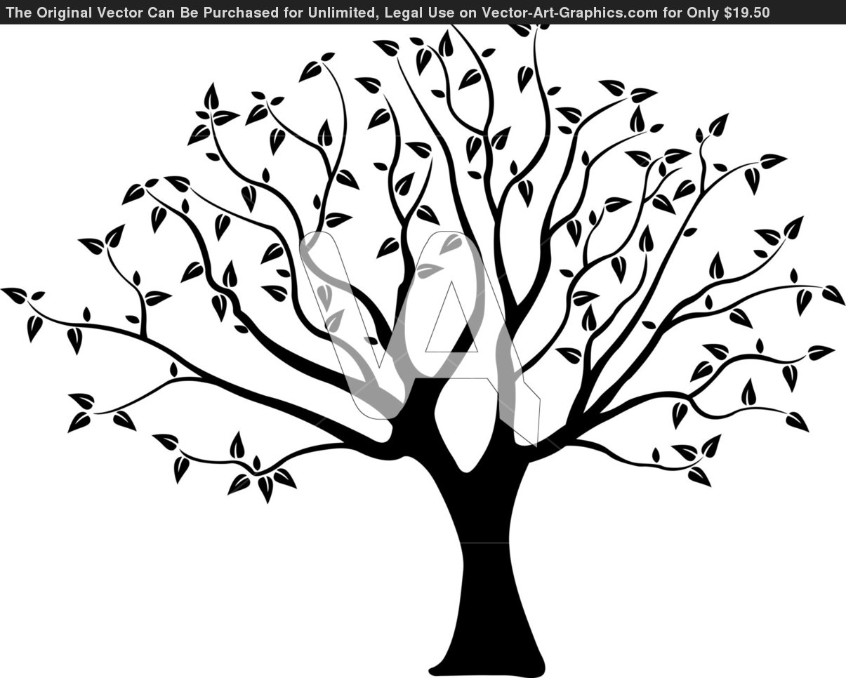 Tree silhouette for wall.