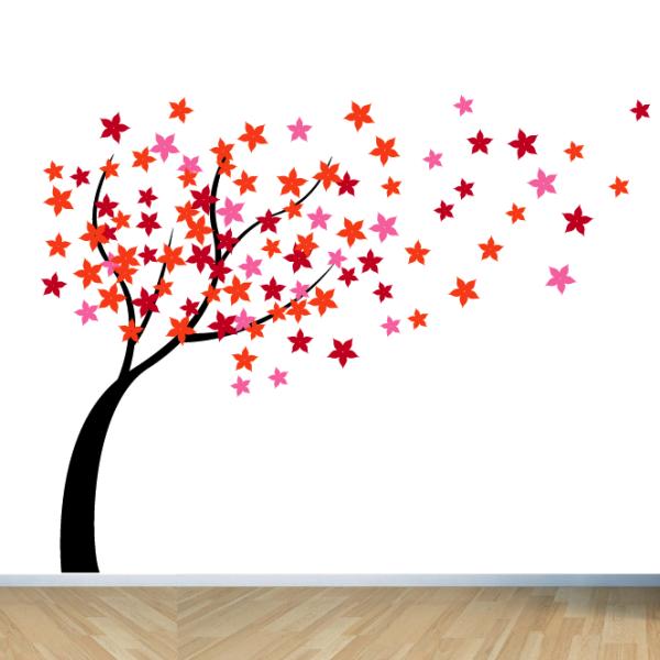Windy Flower Tree Wall Sticker.