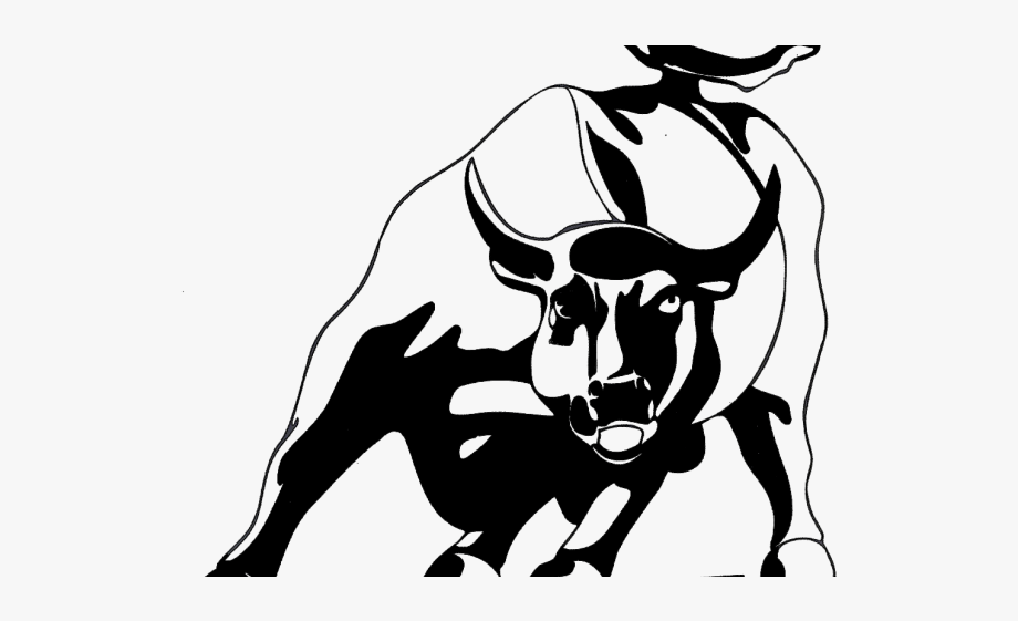Charging Bull Drawing.
