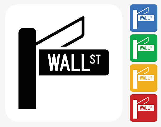 Best Wall Street Sign Illustrations, Royalty.