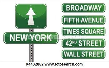 New York Street signs Clipart.
