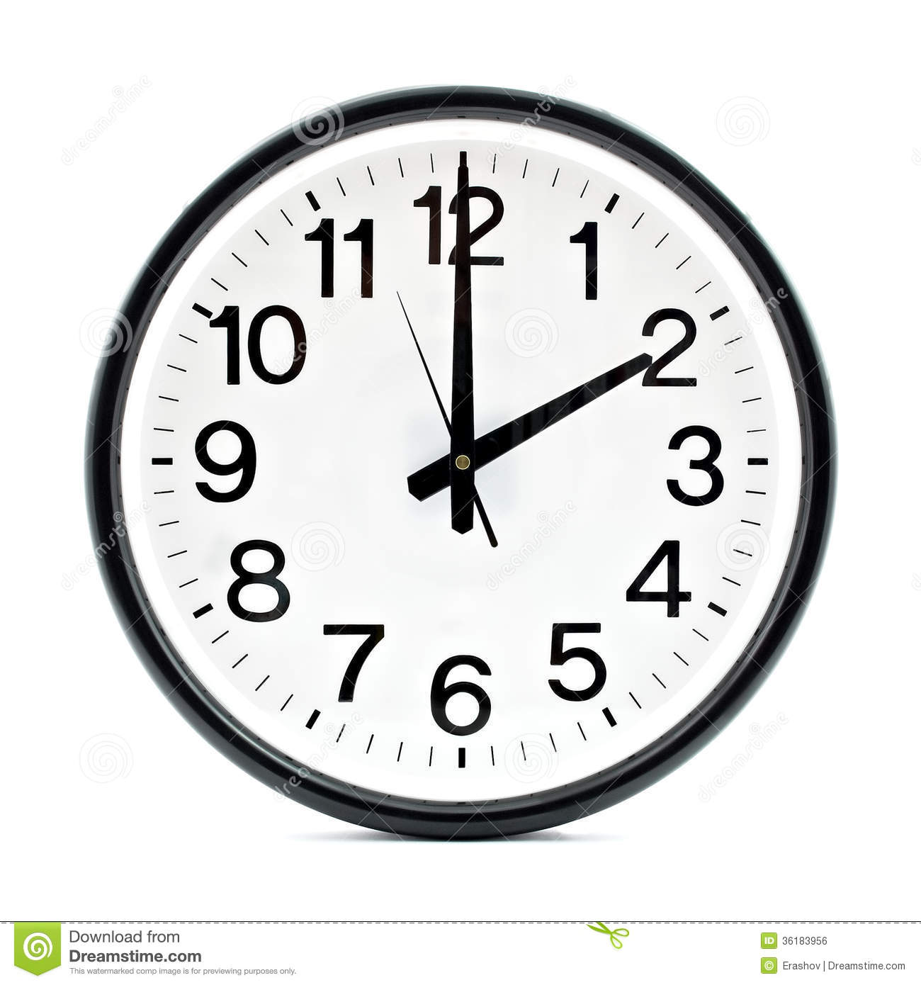 Wall Clock Clipart Black And White.