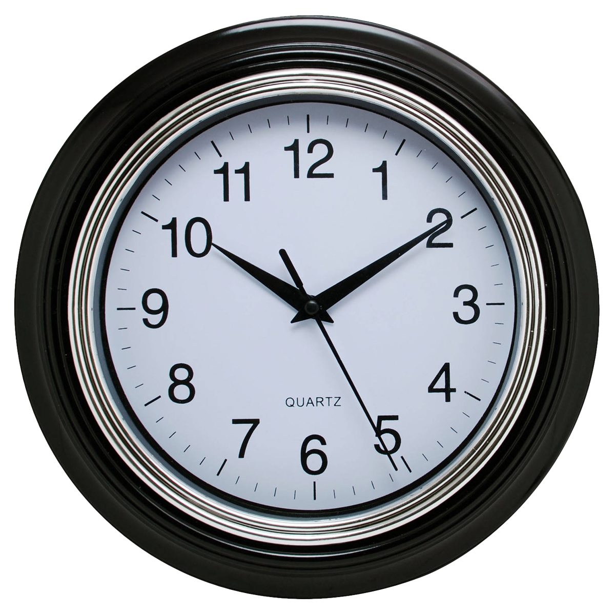 Black Wall Clock PNG Image.