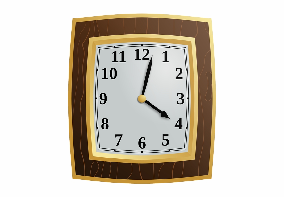 Clock, Wood, Time, Hour, Minute, Wall Clock.