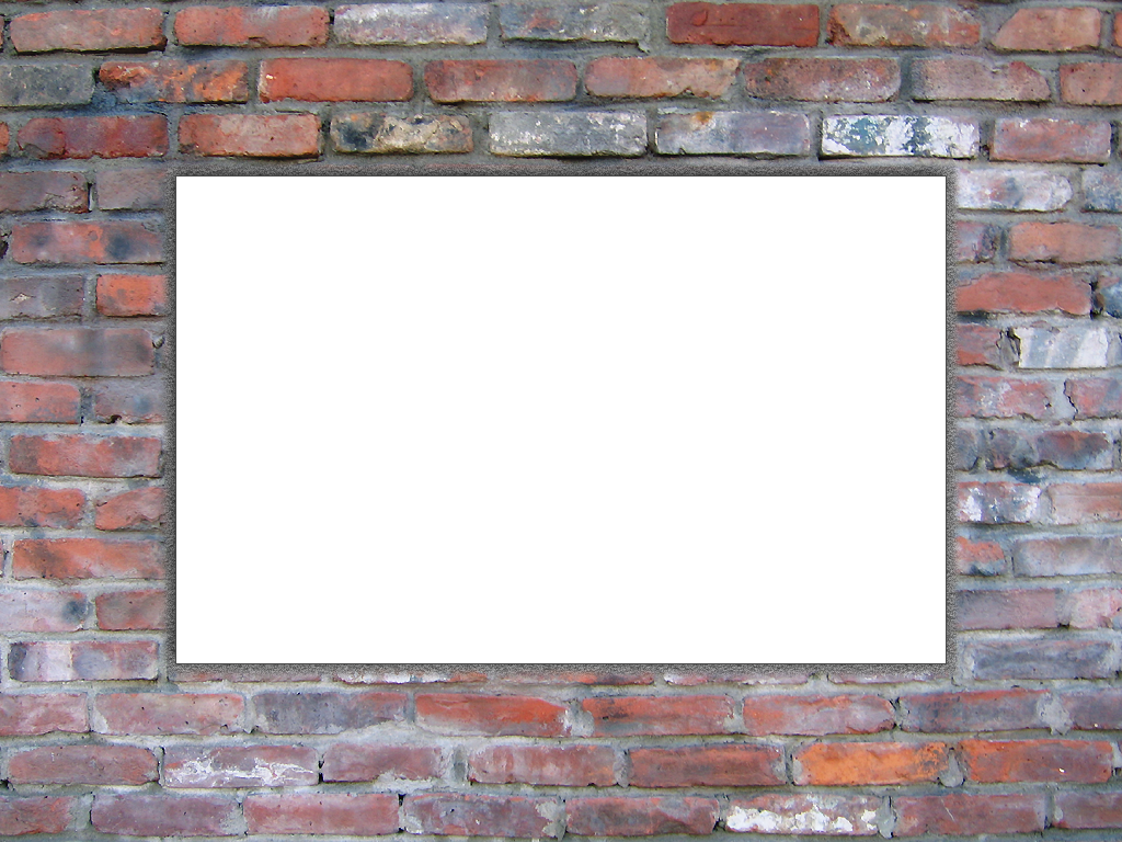 Rectangle Brick Wall Background Window Transparent.