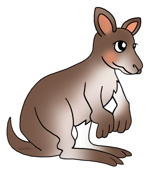 Animals Clip Art by Phillip Martin, Wallaby.