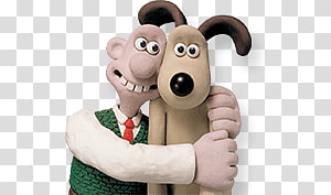 Bitzer, Gromit and Books transparent background PNG clipart.