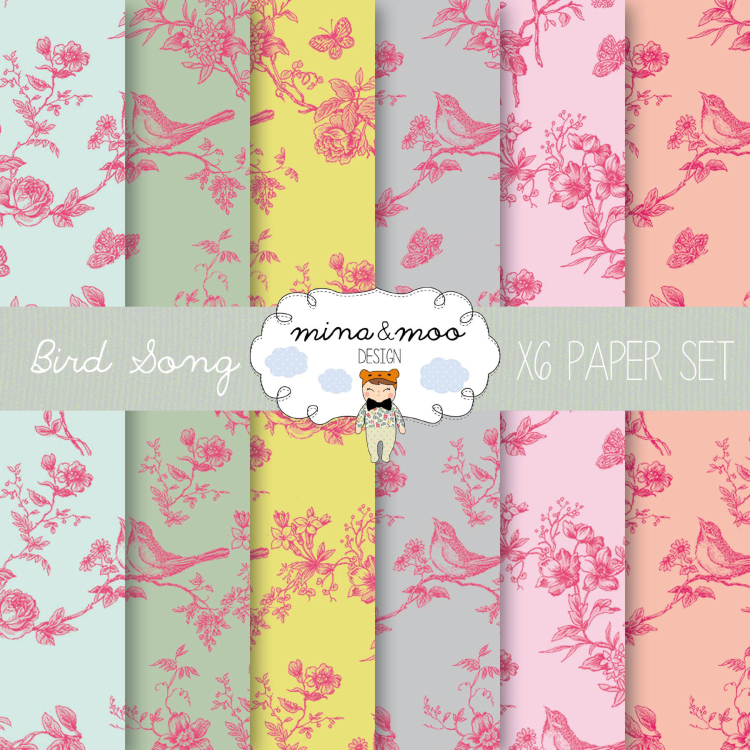 Bird clipart wall coverings.