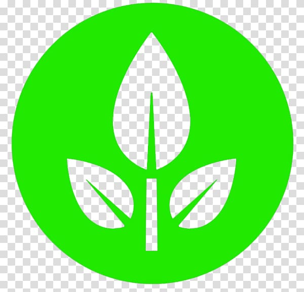 Round green and white plant logo, EVE T.
