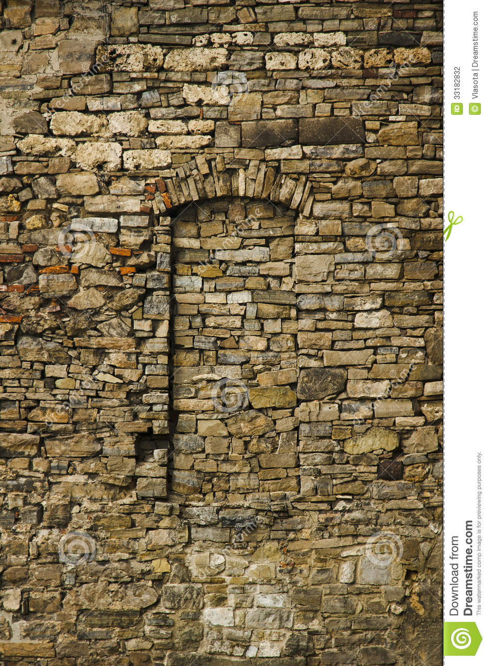 Walled Up Window Stock Photography.