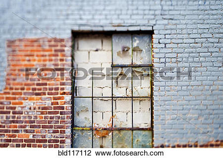 Stock Photo of Walled Up Window bld117112.