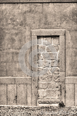 Walled Up Door Royalty Free Stock Images.