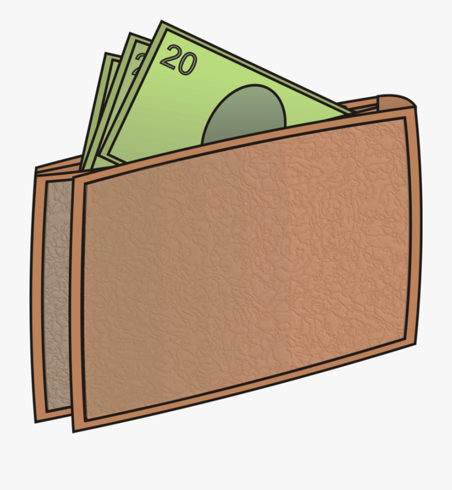 Wallet With Money Clipart.