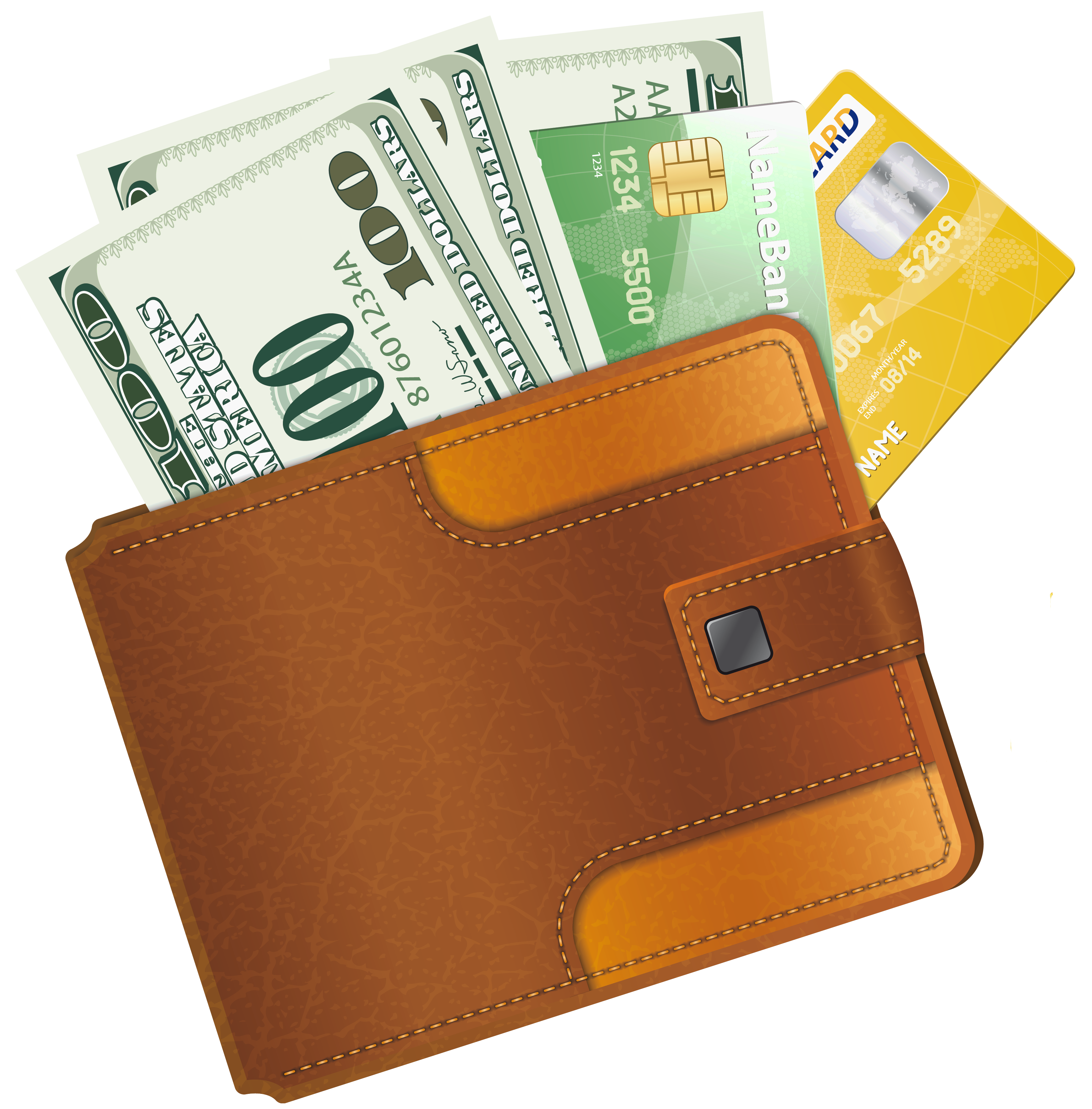Wallet clipart free.