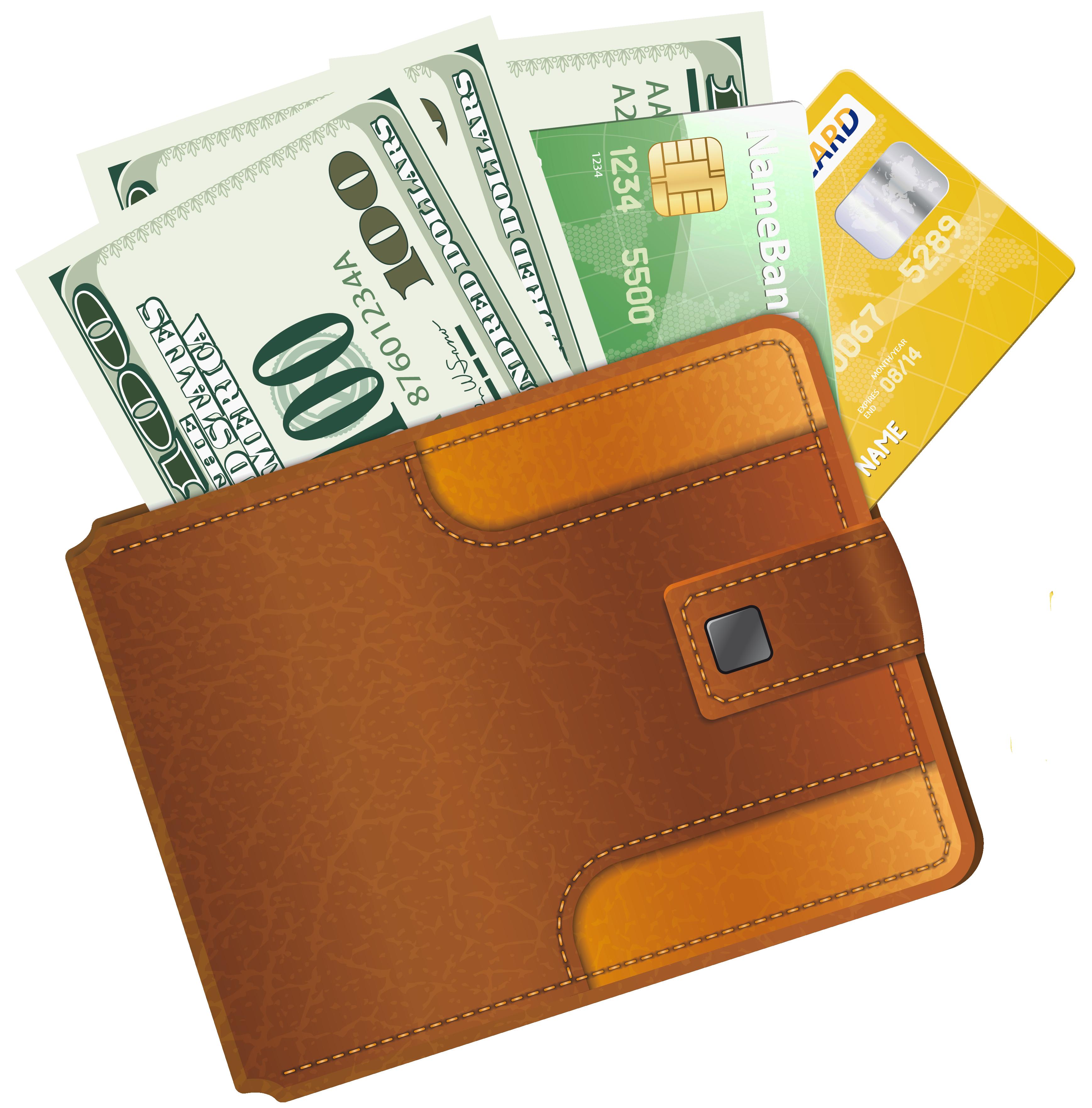 Money In Wallet Clipart.
