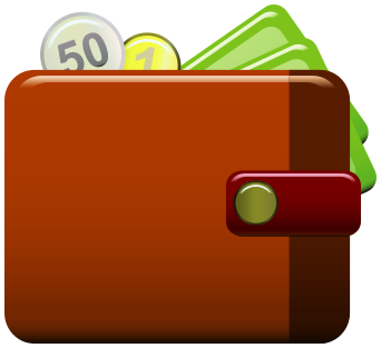 Wallet clipart.