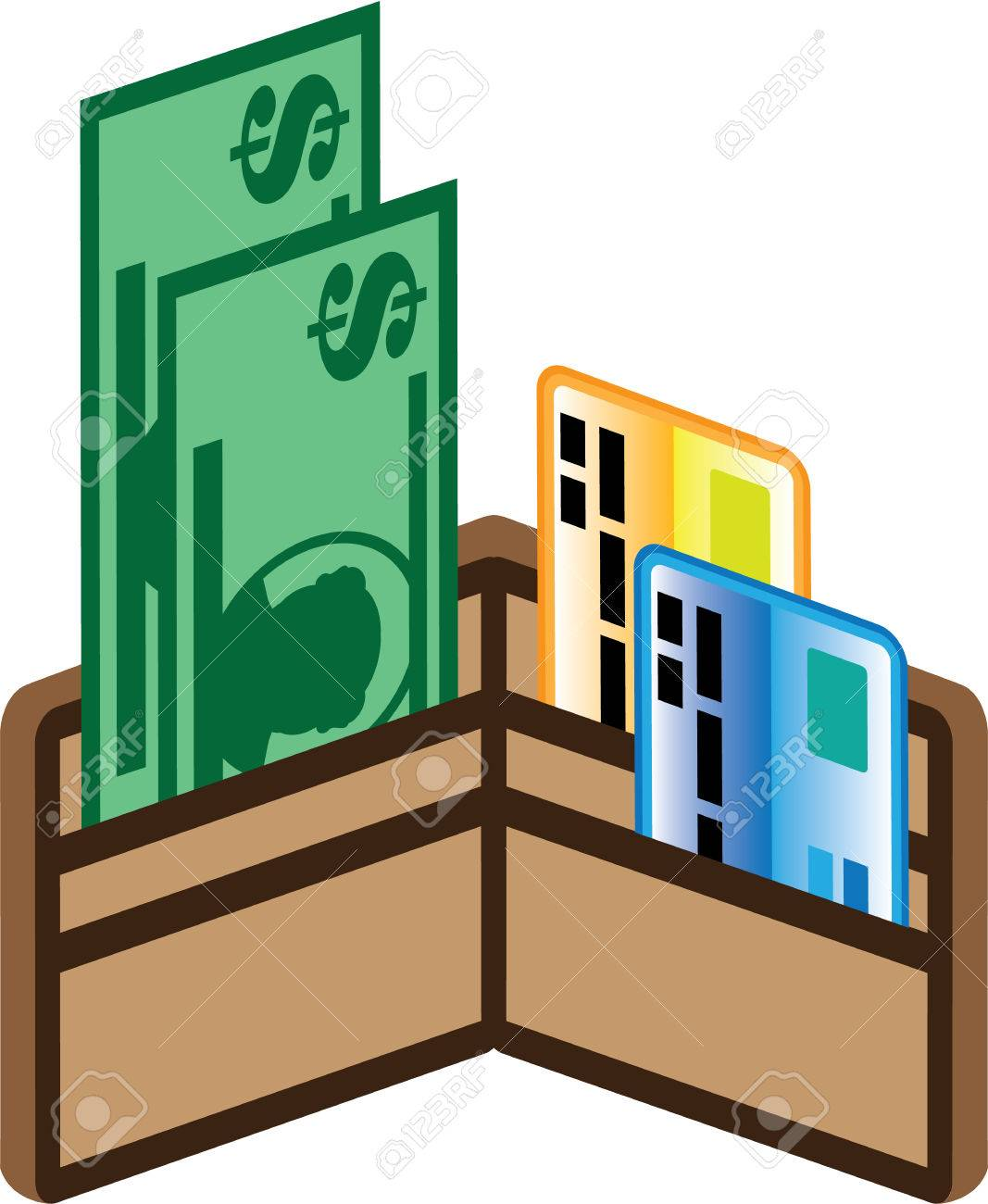 Filled wallet money cards illustration icon clip.