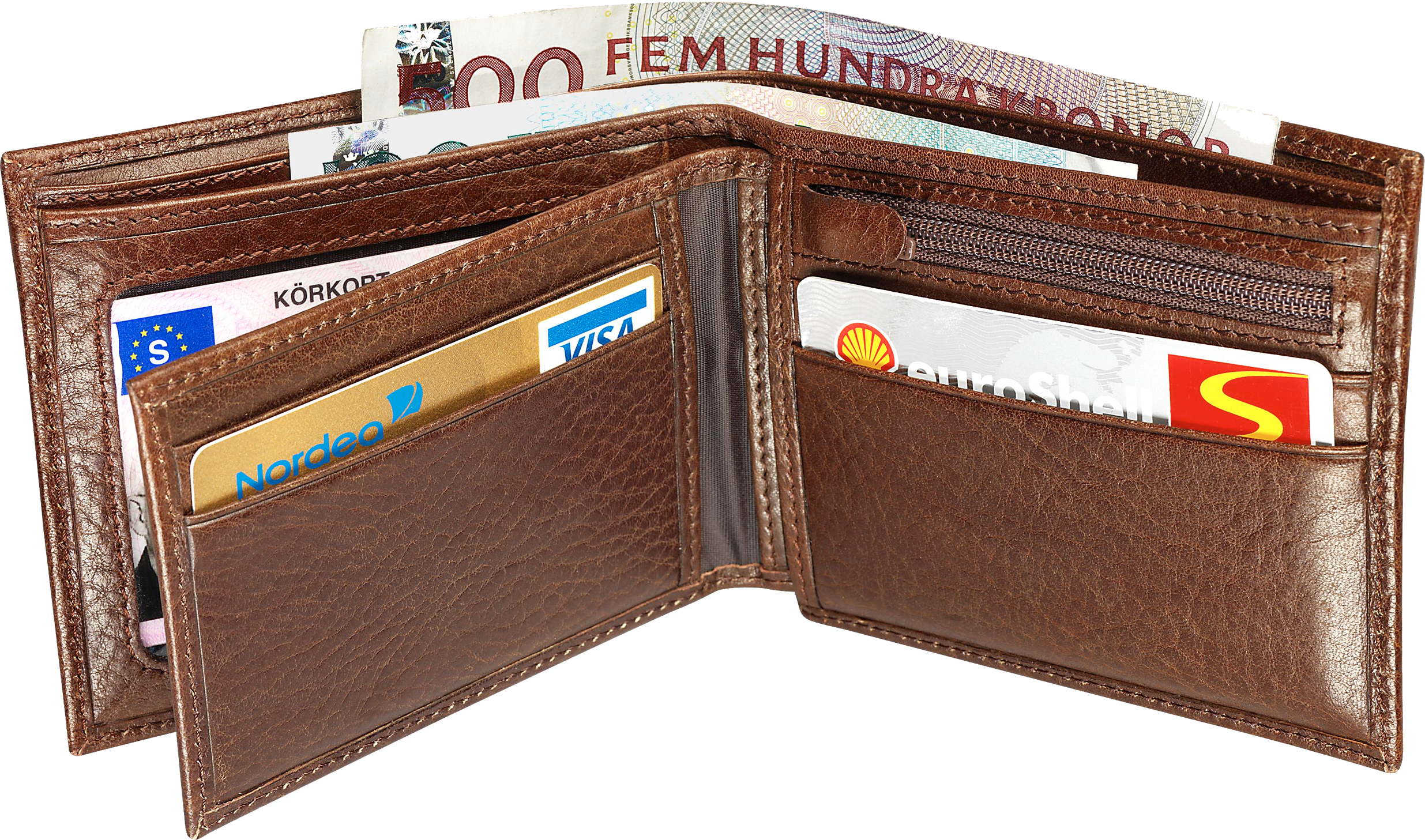 Brown Wallet PNG Image.