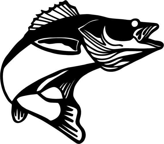 walleye silhouette.