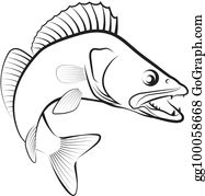 Walleye Fish Clip Art.